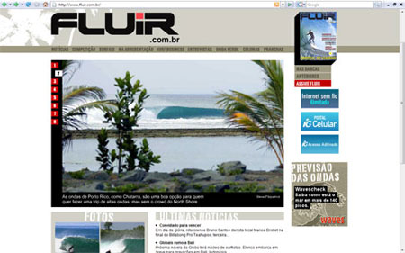 Novo layout site Revista Fluir