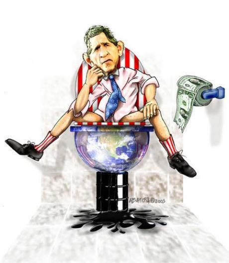 Bush spread shit all over the World