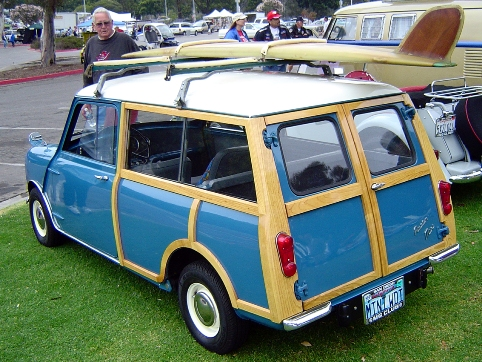 Austin Mini surf wagon