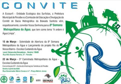 Convite VIII Semana Metropolitana da Água da Baixada Santista