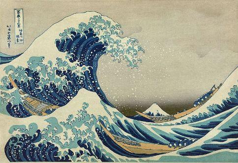 A Grande Onda de Kanagawa, obra de Katsushika Hokusai
